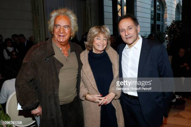 Producer Albert Koski his wife Director Daniele Thompson and JeanPierre Weill attend the Weill Menswear Fall/Winter 20192020 show as part of Paris...