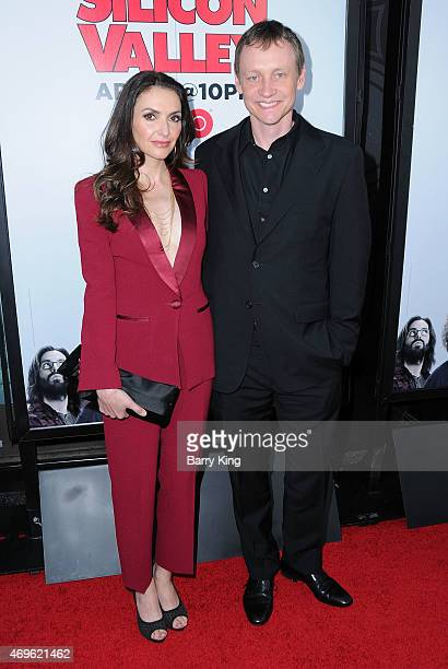 Producer Alec Berg and actress Michele Maika attend the HBO 'Silicon Valley' season 2 premiere at the El Capitan Theatre on April 2 2015 in Hollywood...