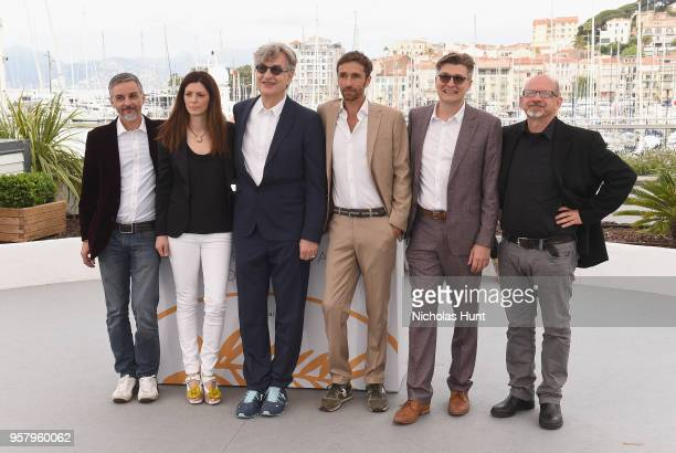 Producer Alessandro Lo Monaco producer Samanta Gandolfi Branca director Wim Wenders actor Ignazio Oliva writer David Rosier and producer Andrea...