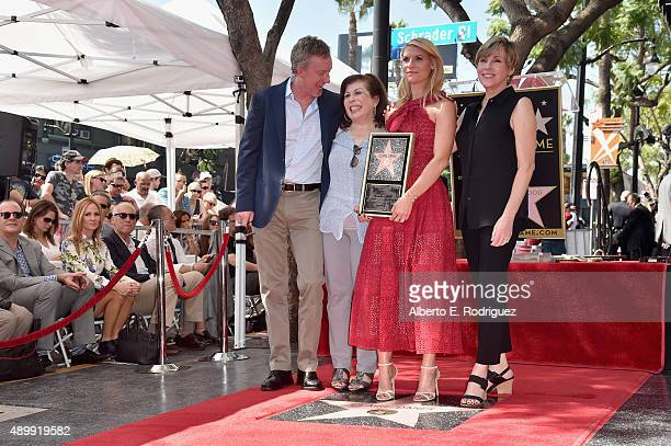 Producer Alex Gansa writer Winnie Holzma actress Claire Danes and actress Bess Armstrong attend a ceremony honoring Claire Danes with the 2559th Star...