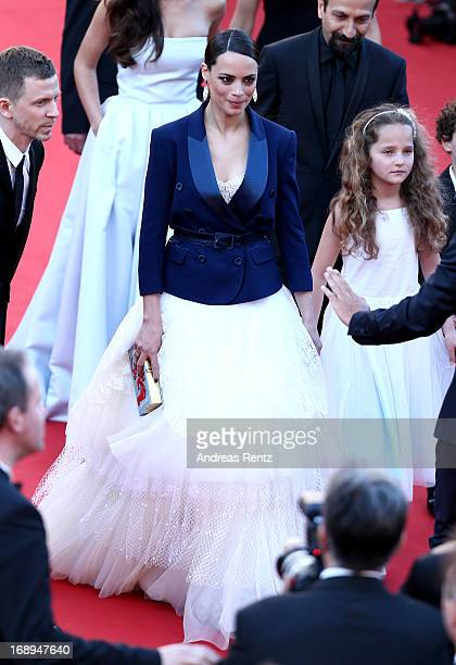 Producer Alexandre MalletGuy and actresses Berenice Bejo and Jeanne Jestin attend the Premiere of 'Le Passe' during The 66th Annual Cannes Film...