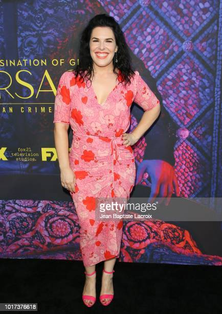 Producer Alexis Martin Woodall attends a panel and photo call for FX's 'The Assassination Of Gianni Versace American Crime Story' on August 15 2018...