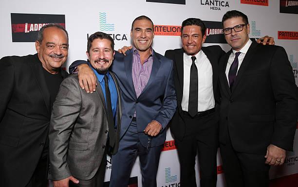 Producer Alfonso Rodriguez, actor/writer Jon Molerio, Euardo Yanez, Fernando Colunga and Director Joe Menendez attend the Pantelion Films'