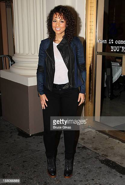 Alicia keys jacket pictures and photos getty images producer alicia keys attends the stick fly meet and greet at cort theatre on m4hsunfo