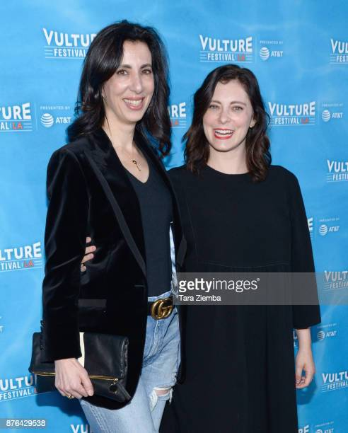 Producer Aline Brosh McKenna and actress Rachel Bloom attend the Crazy ExGirlfriend 100th Song Celebration SingaLong event during Vulture Festival...