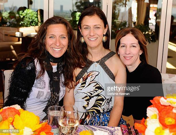 Producer Alisa Tager Creative Digital Director of Vogue Sally Singer and producer Allison Shearmur attend Vogue Lunch In Celebration Of The Etro...