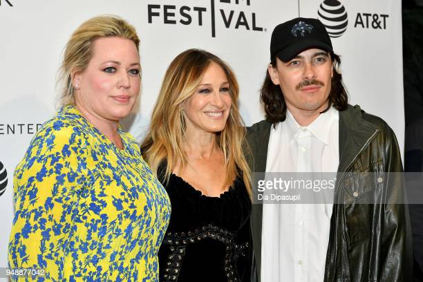 Producer Alison Benson actress Sarah Jessica Parker and director Fabien Constant attend a screening of 'Blue Night' during the 2018 Tribeca Film...