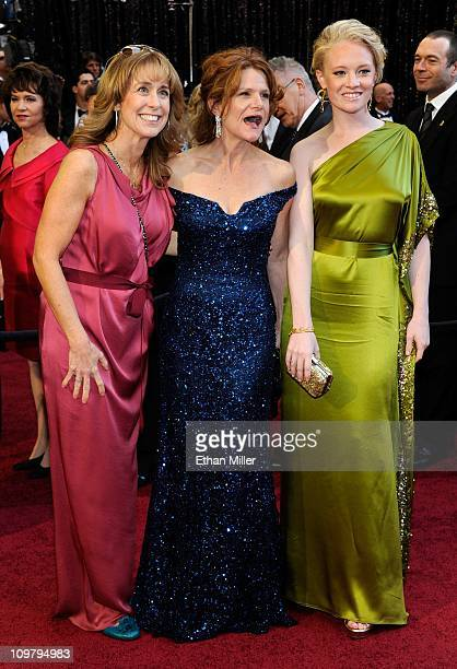 Producer Alix MadiganYorkin actress Dale Dickey and actress Lauren Sweetser arrive at the 83rd Annual Academy Awards at the Kodak Theatre February 27...