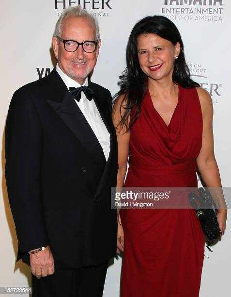 Producer Allan McKeown and wife actress Tracey Ullman attend Beyond Hunger A Place at the Table charity event at Montage Beverly Hills on September...