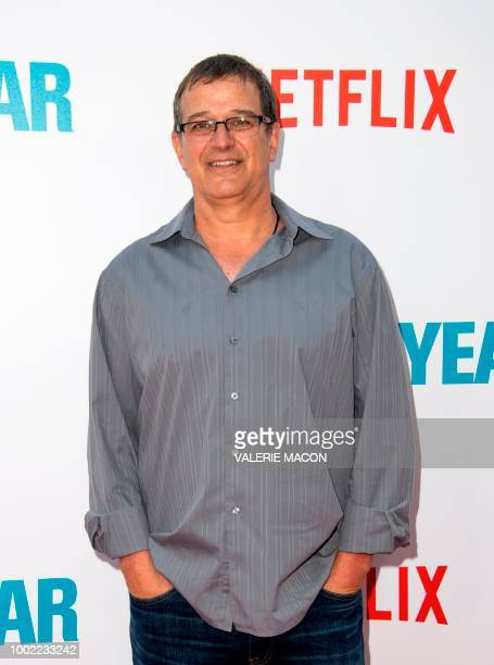 Producer Allen Covert attends the premiere of the film Father of The Year at the ArcLight Hollywood on July 19 in Hollywood California