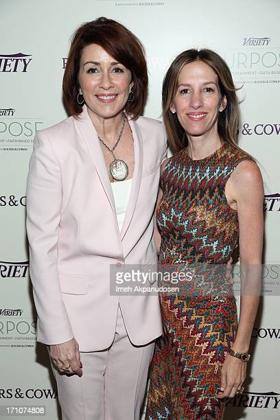 Producer Alli Shearmur and actress/producer Patricia Heaton attend Variety's Purpose The Faith And Family Summit in Association with Rogers and Cowan...