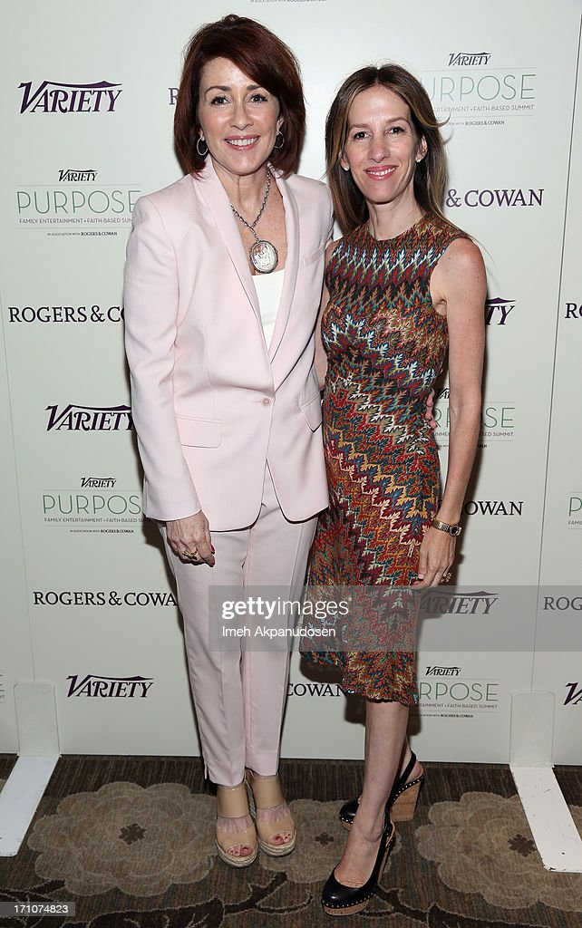 Producer Alli Shearmur and actress/producer Patricia Heaton attend Variety's Purpose: The Faith And Family Summit in Association with Rogers and Cowan at Four Seasons Hotel Los Angeles on June 21, 2013 in Beverly Hills, California.