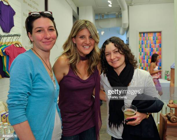 Producer Allison Adler Founder of The Little Seed Paige Tolmach and actress Sara Gilbert attend Little Seed's Private Label Launch sponsored by...