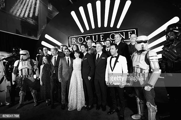 Producer Allison Shearmur actors Mads Mikkelsen Riz Ahmed Felicity Jones Diego Luna Alan Tudyk and Donnie Yen Director Gareth Edwards Producer...