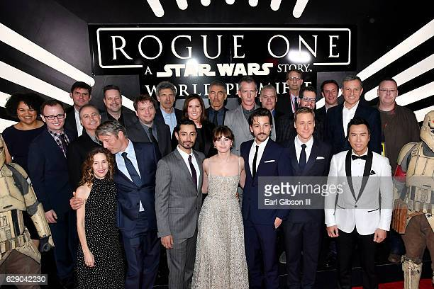 Producer Allison Shearmur actors Mads Mikkelsen Riz Ahmed Felicity Jones Alan Tudyk and Donnie Yen Walt Disney Studios President Alan Bergman...