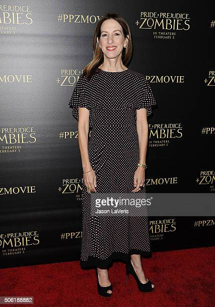 Producer Allison Shearmur attends the premiere of 'Pride and Prejudice and Zombies' at Harmony Gold Theatre on January 21 2016 in Los Angeles...