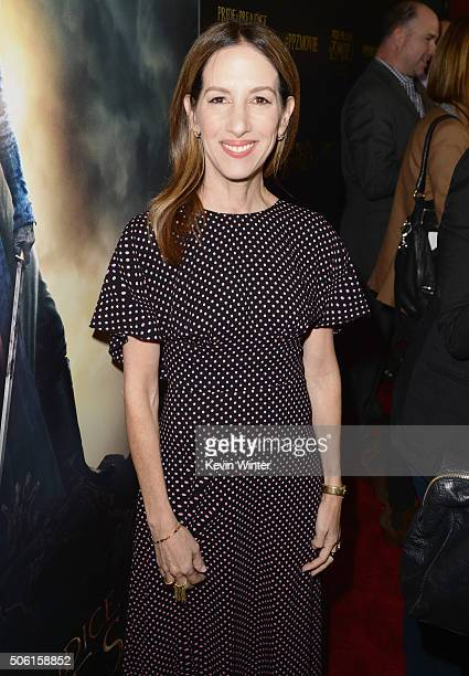 Producer Allison Shearmur attends the Premiere of Screen Gems' 'Pride and Prejudice and Zombies' on January 21 2016 in Los Angeles California