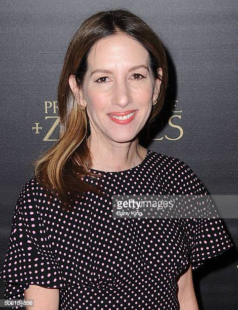 Producer Allison Shearmur attends the Premiere of Screen Gems' 'Pride And Prejudice And Zombies' at Harmony Gold Theatre on January 21 2016 in Los...