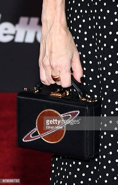 Producer Allison Shearmur handbag detail attends the premiere of Walt Disney Pictures and Lucasfilm's 'Rogue One A Star Wars Story' at the Pantages...
