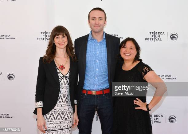 Producer Amanda Murray director Ian Cheney and producer Jennifer 8 Lee attend 'The Search For General Tso' world premiere at 2014 Tribaca Film...