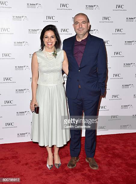 Producer Amira Diab and director Hany AbuAssad attend the IWC Filmmakers Award during day two of the 12th annual Dubai International Film Festival...