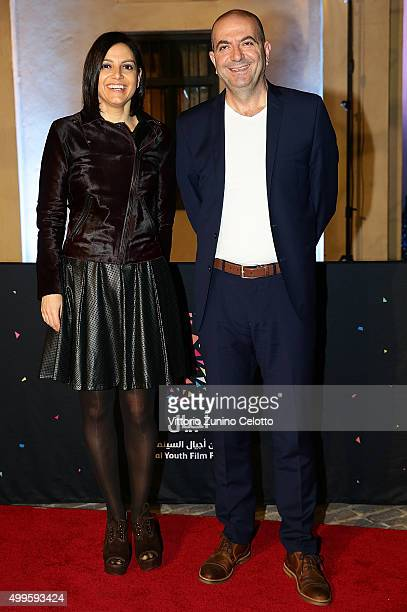R Producer Amira Diab and director Hany AbuAssad on the red carpet for the ÔMade In Qatar' showcase celebrating a selection of films made by...