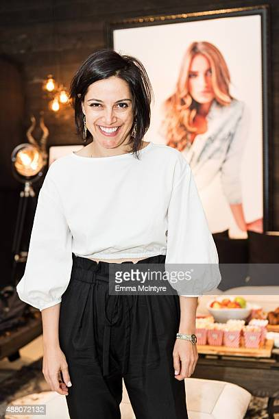 Producer Amira Diab of 'The Idol' attends the Guess Portrait Studio on September 13 2015 in Toronto Canada