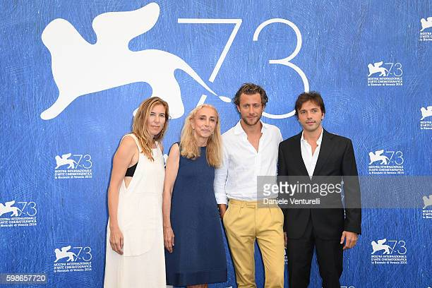 Producer Amy Berg Franca Sozzani director Francesco Carrozzini and producer Daniele Di Lorenzo attend the photocall of 'Franca Chaos And Creation'...