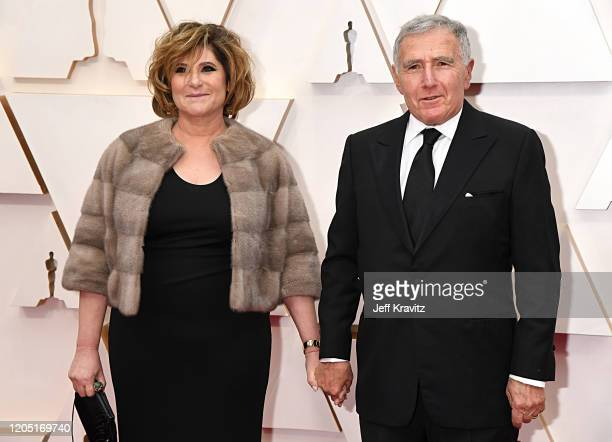 Producer Amy Pascal and journalist Bernard Weinraub attend the 92nd Annual Academy Awards at Hollywood and Highland on February 09, 2020 in...