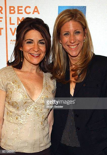Producer Amy Sewell and director Marilyn Agrelo pose for a photo at The ASCAP Music Lounge at the Tribeca Film Festival April 29 2005 in New York City