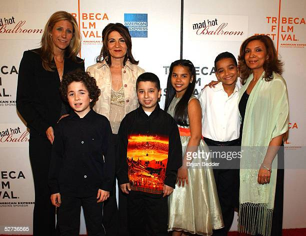 Producer Amy Sewell Cyrus Hernstedt director Marilyn Agrelo Michael Vaccar Jatnna Toririo Wilson Castillo and dance teacher Yomaira Reynoso pose for...