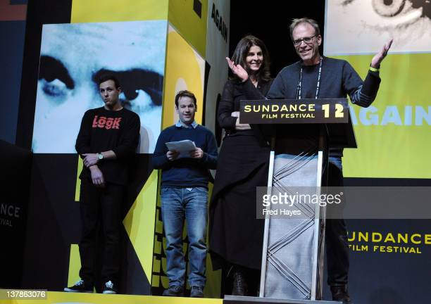 Producer Amy Ziering and Director Kirby Dick accept US Audience Award Documentary for The Invisible War at the Awards Night Ceremony during the 2012...