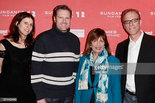 Producer Amy Ziering Congressman Mike Turner Congresswoman Jackie Speier and Director Kirby Dick attend The Invisible War premiere during the 2012...