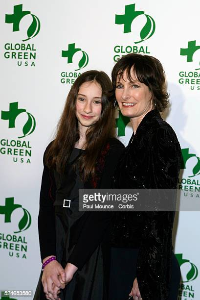 Producer and award recipient Gale Anne Hurd with her daughter Lolita De Palma arrives at the Millennium Awards a Global Green event honoring former...