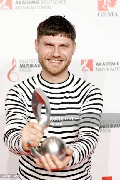 Producer and award winner Nicolas Rebscher during the German musical authors award on March 15 2018 in Berlin Germany