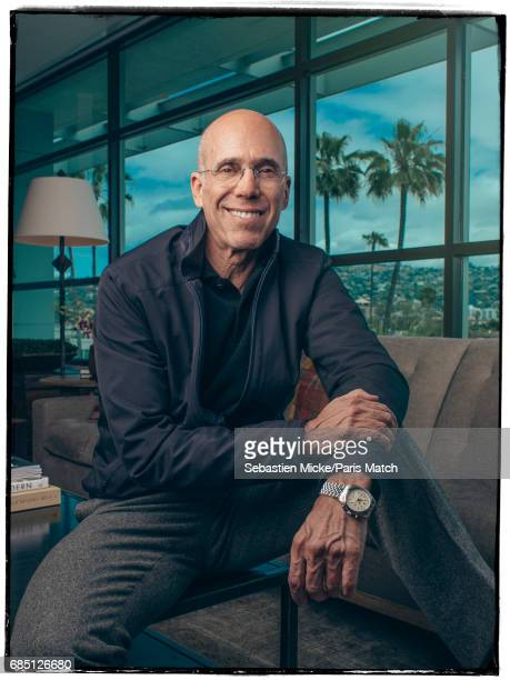 Producer and cofounder of Dreamworks Jeffrey Katzenberg is photographed for Paris Match on April 13 2017 in Los Angeles California