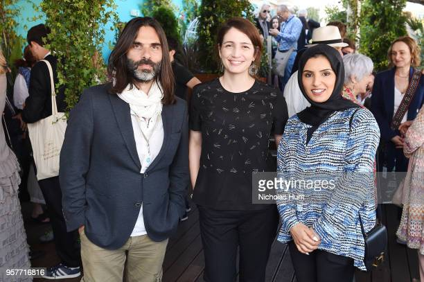 Producer and Composer Khalid Mouzanna with Hanaa Issa and Fatma Al Remaihi at the Doha Film Institute reception to celebrate the films supported by...