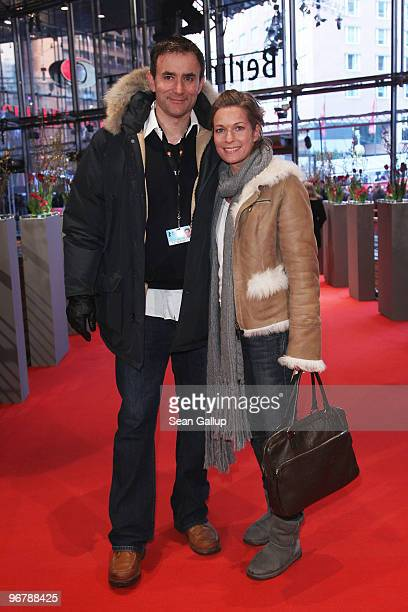 Producer and director Giulio Ricciarelli and actress Lisa Martinek attends the 'Shahada' Premiere during day seven of the 60th Berlin International...