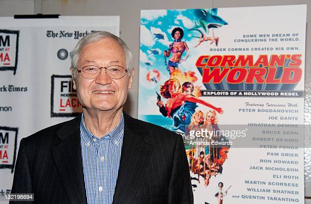 Producer and director Roger Corman arrives at the 2011 Film Independent Screening Series Corman's World at Bing Theatre at LACMA on November 10 2011...