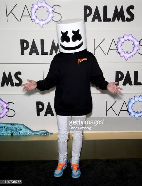 Producer and DJ Marshmello attends the grand opening of KAOS Dayclub Nightclub at Palms Casino Resort on April 05 2019 in Las Vegas Nevada