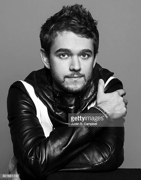 Producer and DJ Zedd poses for a portrait at the 2015 Jingle Ball for Just Jared on December 4 2015 in Los Angeles California