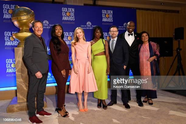 Producer and Executive VP of Dick Clark Productions Barry Adelman Golden Globe Ambassador Isan Elba Leslie Mann Danai Gurira Christian Slater Terry...