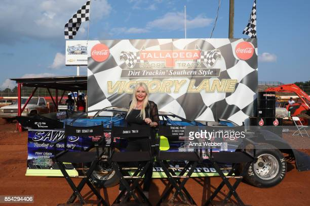 Producer and founder of AMBI Media Group Monika Bacardi On The Set Of The Movie Trading Paint on September 14 2017 in Talladega Alabama