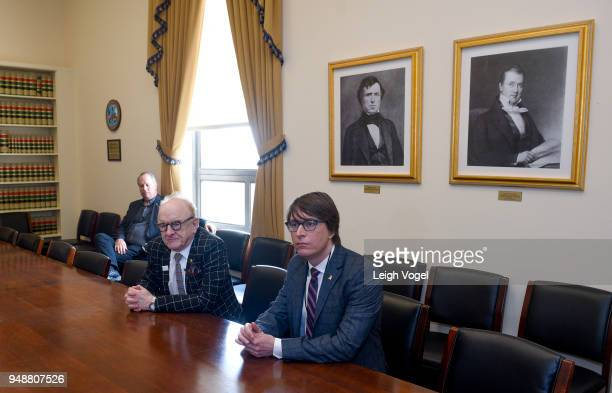 Producer and musician Peter Asher and musician Justin Roberts participate in a meeting with Branden Ritchie Deputy Chief of Staff for US House of...