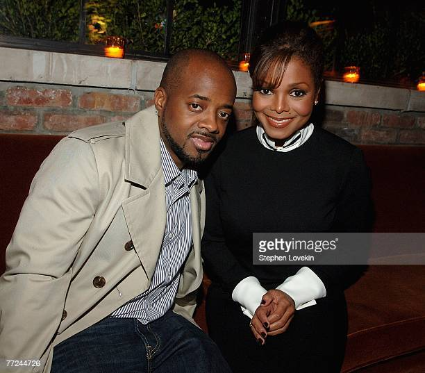 Producer and rapper Jermaine Dupri and singer and actress Janet Jackson arrive to the 'We Own The Night' afterparty presented by The Cinema Society...