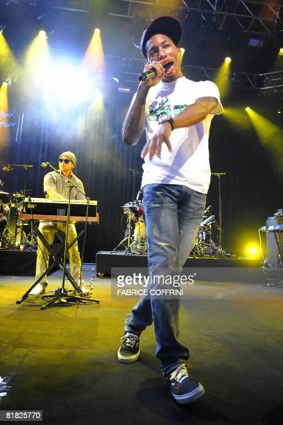 US producer and rapper Pharrell Williams performs with his funk rock group NERD on the Auditorium Stravinski stage during the opening night of the...