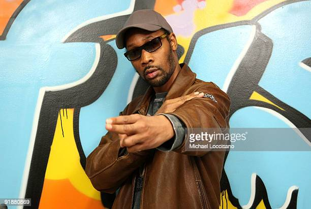 Producer and rapper Robert RZA Fitzgerald Diggs visits fuse Studios on October 14 2009 in New York New York