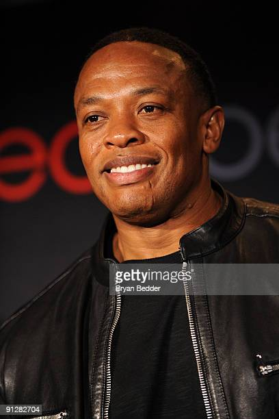 Producer and recording artist Dr Dre attends the Heartbeats by Lady Gaga headphones unveiling at GILT at The New York Palace Hotel on September 30...