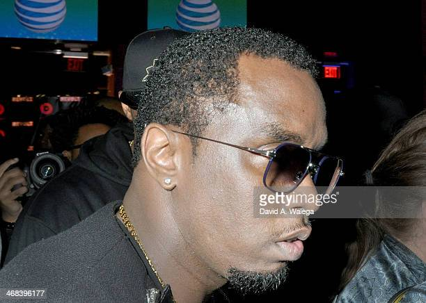 Producer and recording artist Sean Combs aka Diddy arrives the Beats Music Launch Party at Belasco Theatre on January 24 2014 in Los Angeles...