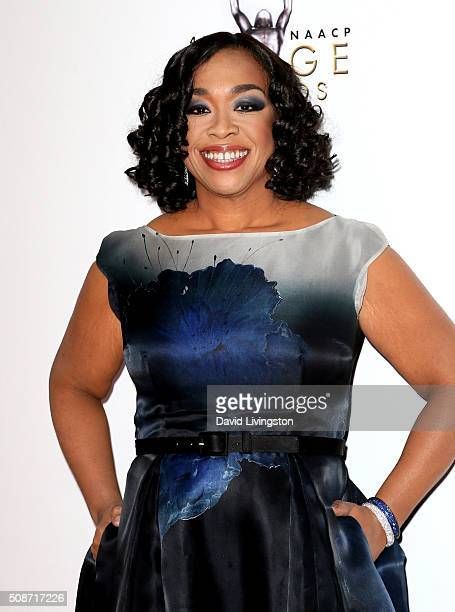 Producer and show creator Shonda Rhimes attends the 47th NAACP Image Awards presented by TV One at Pasadena Civic Auditorium on February 5 2016 in...